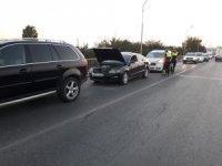 Birecik'te zincirleme kaza:1 yaralı