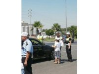 Kahramanmaraş'ta çocuklar trafik polisi oldu