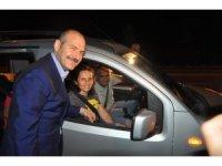 Bakan Soylu, Afyonkarahisar'da trafik uygulamasına katıldı