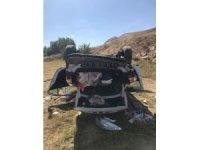 Sivas'ta otomobil şarampole yuvarlandı: 4 yaralı