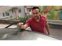 Samsun'da maganda kurşunları park halindeki araçlara ve eve isabet etti