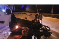 Bursa'da minibüs ile motosiklet çarpıştı: 1 yaralı