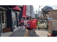 30 Ağustos Zafer Bayramı için 41 km yürüdüler