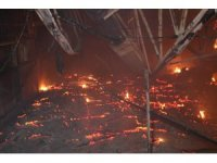Çikolata fabrikasında korkutan yangın