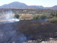 Sason'da tarla yangını