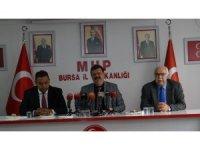 """MHP Bursa İl Başkanı Coşkun: """"Döviz saldırısıyla bizi teslim alacağını zannedenler bozgun yaşayacaklar"""""""