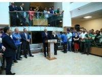 Enver Yılmaz Büyükşehir Belediye personeli ile vedalaştı