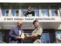 GAGİAD Yönetim Kurulu Tuğgeneral 5. Zırhlı Tugay Komutanı Şefik Atak'ı ziyaret etti