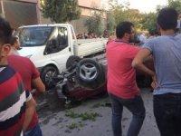 2 araca çarpıp 2 ağaç deviren otomobil yayaya çarptı: 1 ölü 5 yaralı