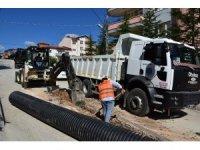 Bilecik'te yaşanan sel olaylarının ardından yeni yağmur suyu hatları yapılıyor