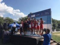 Balıkesirli triatloncular Balkan Şampiyonası'ndan başarı ile döndü