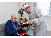 Diyanet İşleri Başkanı Erbaş, 15 Temmuz gazisi eski TEM Daire Başkanı Aslan'ı ziyaret etti