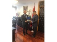 Başkan Mustafa Koca, Ulaştırma ve Alt Yapı Bakan Yardımcısını ziyaret etti