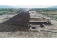 Yeni Tokat Havalimanı çalışmaları havadan görüntülendi