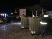 Arnavutköy'deki operasyonda 25 bin litre '10 numara yağ' ele geçirildi