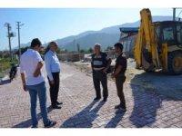 Başkan Yaman'dan yeni belde stadında inceleme
