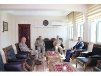 Tümgeneral İlbaş'tan Kaymakam Türkman'a ziyaret etti