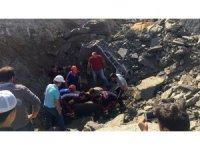 Bartın Devlet Hastanesi inşaatında feci kaza