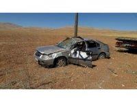 Sivas'ta otomobil takla attı: 3 yaralı