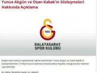 Galatasaray'dan Ozan Kabak ve Yunus Akgün açıklaması