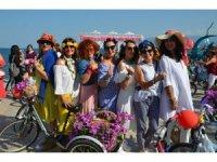 'Süslü Kadınlar' bisikletleriyle sokaklarda
