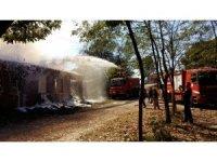 Çanakkale'de samanlık yangını