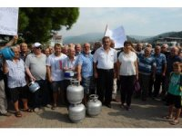 Tüplü doğalgaz protestosu