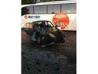 Alkollü sürücü traktöre arkadan çarptı: 2 yaralı