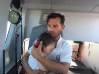 Şekeri yükselen çocuğun yardımına ambulans helikopter yetişti