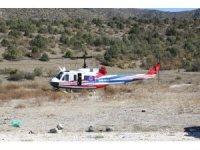 Çankırı'da helikopter destekli trafik uygulaması