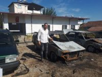 Bozdoğan'da araç kundaklama olayı