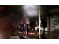 Nazilli'de lastik satış mağazasında korkutan yangın