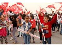 450 minik çocuk, uçurtma şenliği'nde buluştu