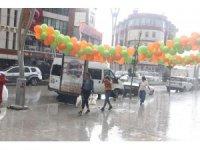 Hakkari'deki sağanak yağış