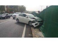 Ters yönden çıkan araç kazaya neden oldu