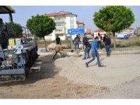Şuhut'ta sıcak asfalt çalışmaları sürüyor