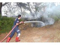 Manavgat'taki orman yangınında 2 dönüm alan zarar gördü
