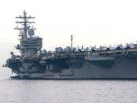 ABD uçak gemisi USS Ronald Reagan'a helikopter düştü