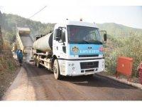 Alanya Belediyesi Çamlıca'da 7 kilometre asfalt yapıyor