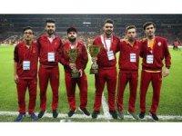 Galatasaray Espor Zula Takımı kupalarını tanıttı