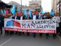 Nevşehir'de Doğu Türkistan için yürüyüş düzenlendi
