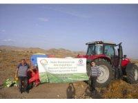 Sungurlu'da 17 dekarlık alana direkt ekim yapıldı