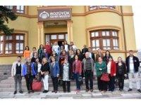 81 ilden gelen kadın muhtarlar Bozüyük Şehir Müzesini ziyaret etti