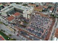 Kocaeli Devlet Hastanesi otoparkına son rötuşlar yapılıyor