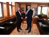 Genel Başkan Sözen'den Rektör Çomaklı'ya ziyaret