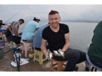 Amatör balıkçıların çinekop avı