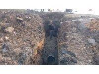 Kanalizasyon çalışmaları hızla devam ediyor