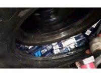 Yedek lastik içinde 720 paket kaçak sigara ele geçirildi