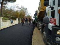 Boğaziçi'nde asfalt çalışması sürüyor