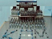 Isparta'da 240 şişe sahte içki ele geçirildi